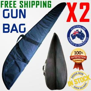 RIFLE BAG GUN CASE BAG FABRIC COVER FOAM PADDED HUNTING SHOTGUN x2