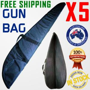 RIFLE BAG GUN CASE BAG FABRIC COVER FOAM PADDED HUNTING SHOTGUN x5