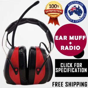 EARMUFFS SHOOTING ELECTRONIC GUN HUNTING AM / FM RADIO HEARING NOISE PROTECTION