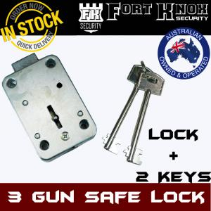 3 GUN SAFE LOCK WITH 2 KEYS LOCKING MECHANISM LOCKS KEY