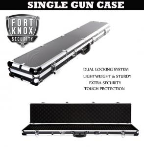 SINGLE ALUMINIUM CARRY GUN CASE - FITS RIFLES, GUNS OR SHOTGUNS
