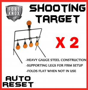 2 x SHOOTING TARGET METAL GALLERY AIRIFLE AUTO RESETTING HUNTING AIR GUN RIFLE
