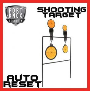 4 SHOT SHOOTING TARGET METAL GALLERY AIRIFLE AUTO RESETTING HUNTING AIR GUN RIFLE