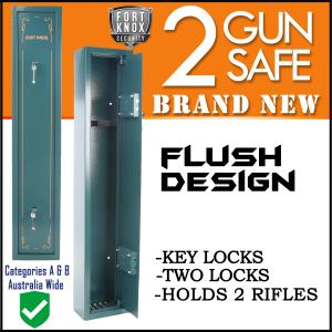 2 GUN SAFE MECHANICAL ARMY GREEN