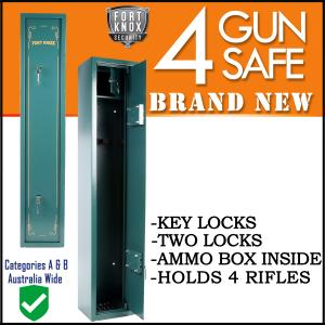 4 GUN SAFE MECHANICAL ARMY GREEN