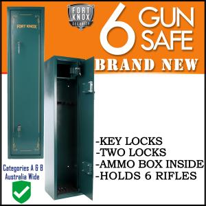 6 GUN SAFE MECHANICAL ARMY GREEN