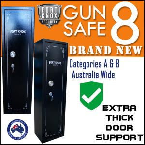 8 GUN SAFE FULLY LINED