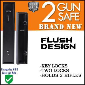 2 GUN SAFE MECHANICAL BLACK