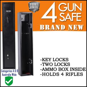 4 GUN SAFE KEY BLACK