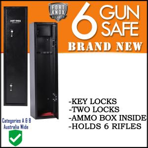 6 GUN SAFE KEY BLACK